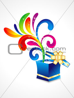 abstract colorful floral with magic box