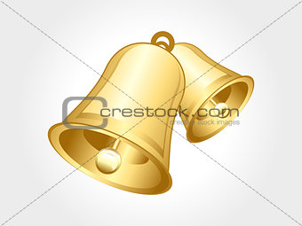 abstract glossy golden bell