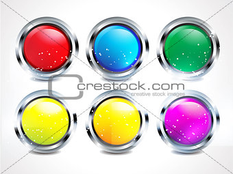 abstract glossy matelik buttons