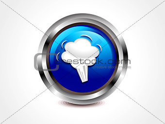 abstract glossy speech button