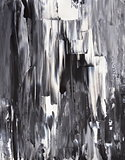 Black and White Abstract Art Painting