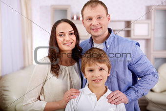 Boy with parents