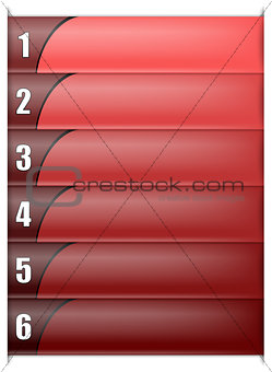 Six Options Vertical Red Template
