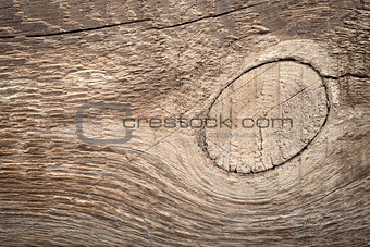 Old brown wooden  board