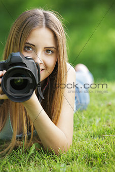 Beautiful young photographer