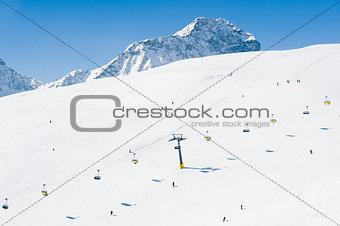 Ski Slope aerial view