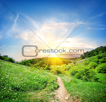 Country road in mountain