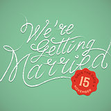 We're getting married, vector Eps10 illustration.