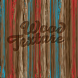 Old color wooden texture background, vector Eps10 illustration.