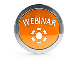 Orange webinar icon with highlight