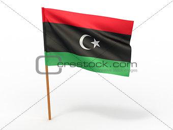 flag fluttering in the wind. Libya