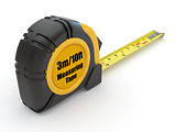 Tools. Measure tape on white background