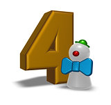 number four and clown