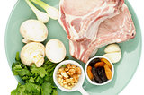 Pork Chop with Ingredients