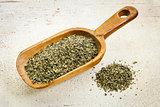 scoop of peppermint tea