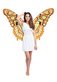Beautiful fairy or nymph woman posing