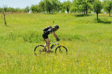 Outdoors bicyclist