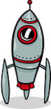 rocket spaceship cartoon illustration