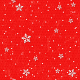 Seamless card with Christmas snowflakes