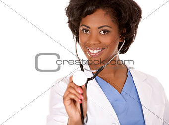 doctor using stethoscope