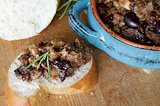 Fig Tapenade on French Bread