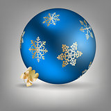 Christmas ball icon vector illustration