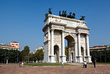 Arch of Peace in Sempione Park, Milan, Lombardy, Italy