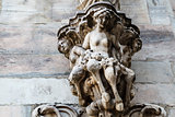 Sculpture on the Roof of Milan Cathedral, Lombardy, Italy