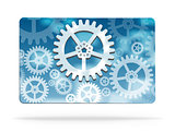 Gear wheel abstract business card