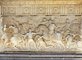 Sculptural battle scene in Alhambra, Spain