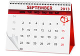 icon calendar for September 1