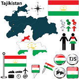 Map of Tajikistan