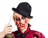Frightened zombie