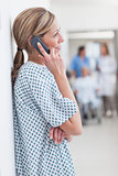 Patient phoning in a hospital