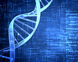 Blue DNA Helix with texture