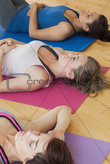 Women relaxing on the floor