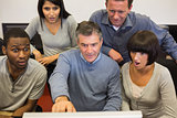 People looking shocked computer monitor