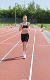 Woman jogging on the track