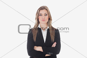 Serious young business woman