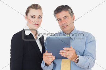 Business people with digital tablet