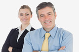 Confident business people smiling