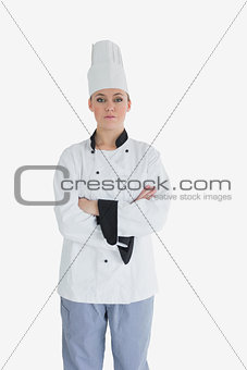 Portrait of confident female chef