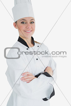 Portrait of female chef