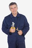 Mature machanic holding tools