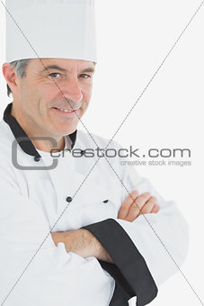 Portrait of confident chef in uniform