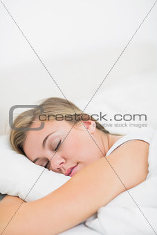 Cute woman sleeping