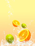 fruit splashing