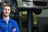Confident auto mechanic