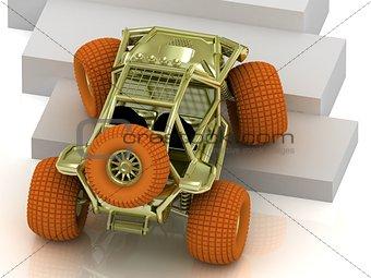 Beautiful Radio-controlled model buggy