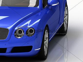 Car blue luxury
